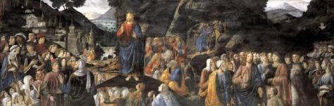 Le-Sermon-sur-la-montagne-par-Cosimo-Rosselli-Chapelle-Sixtine-Vatican